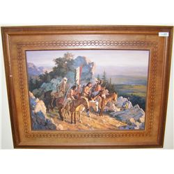 """Gold Seekers to the Blackhills"" by Howard Terpning."