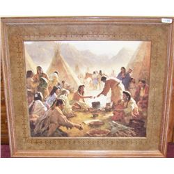 """Old Country Buffet-The Feast"" by Howard Terpning."