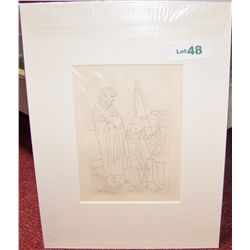 PABLO PICASSO VINTAGE LITHOGRAPH C. 1934 LYSSATRATIA CREATED 1962 BY MACY CO.