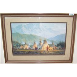 """Crow Camp"" by Howard Terpning."