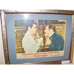 "JACK LEMMON Signed ""The Great Race"" Vintage Movie Promo."