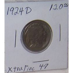 1924 D  BUFFALO NICKEL  (GRADABLE CONDITION)