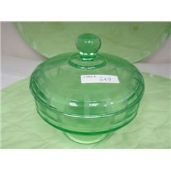 Covered pedestal candy dish