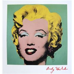 ANDY WARHOL, Signed Print, Turquoise Marilyn