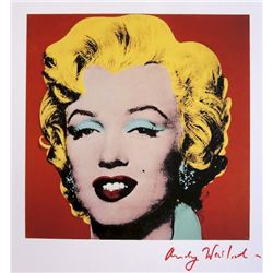 ANDY WARHOL, Signed Print, Shot Red Marilyn
