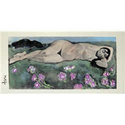 HENRI MATISSE, Hand Colored Original Lithograph,  Nu  1920