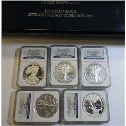 2011 American Eagle 25th anniv 5 coin set