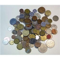 Foreign coin lot, 5 pounds assorted coins, approx 500 coins