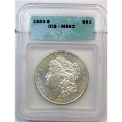 1883S Morgan $  ICG 63  63 GS bid = $2150