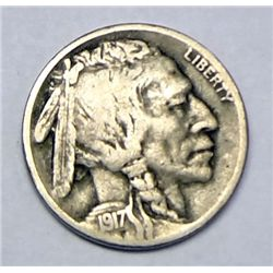 1917S Buffalo nickel  FINE   GS bid = $66