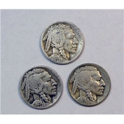 3 strong date semi-key  Buffalo nickels GS bid = $72