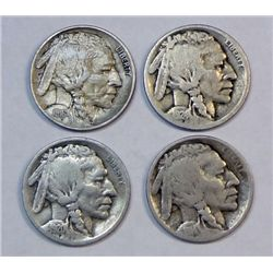 4 strong date semi-key  Buffalo nickels GS bid = $74
