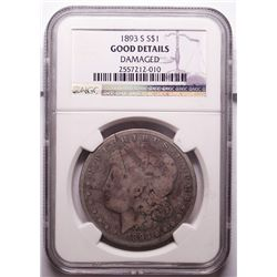 1893-S Morgan Dollar NGC Good, Has Minor Scratches.