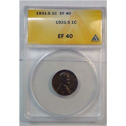 1931S Lincoln penny ANACS40