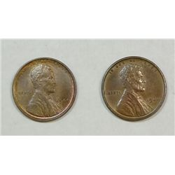 1909VDB  AU and 1909 MS65 RB Lincoln pennys
