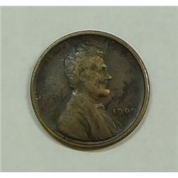 1909SVDB   Lincoln penny  VF Darker than normal