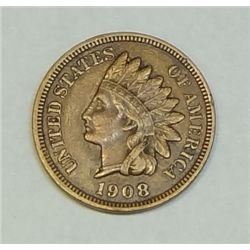 1908S Indian penny  XF  3 1/2 diamonds