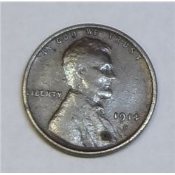 1914D  Lincoln penny  VF with lite pitting