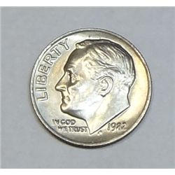 1982 no mint mark Roosevelt dime  XF/AU