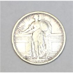 1917 T1 Standing Liberty quarter  VF