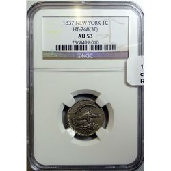 1837 New York  Feuchtwanger cent NGC53