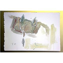 Frederic Remington Original Watercolor on Paper -The Saddle