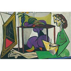 Interior with a Girl Drawing- Picasso- Limited Edition on Canvas
