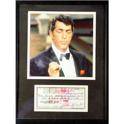 Frank Sinatra   Giclee with Image of a real check
