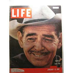 January 1961 Life Magazine; Gable's Last Film