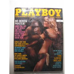 September 1981 Playboy; Bo Derek Poster
