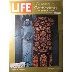 Vintage December 1961  Life Magazine; Cover: Queen of Cathedrals
