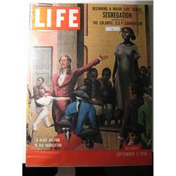 Vintage September 1956 Life Magazine; Segregation