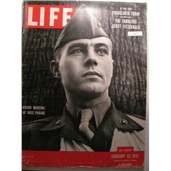 January 1951 Life Magazine; Grand marshall of Rose Parade