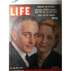 Vintage April 1956 Life Magazine; Cover: Mr. and Mrs. Daniel