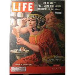 Vintage June 1954 Life Magazine; Cover: Primping in Ancient Sumer