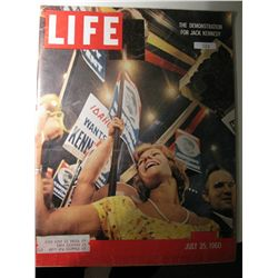 Vintage July 1960 Life Magazine; The Demonstration for Kennedy