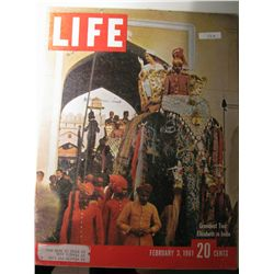 Vintage February 1961 Life Magazine; Princess Elizabeth in India