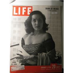 Vintage January 1950 Life Magazine; Drama of Mexico (14 pages Picture) / Norma De Landa