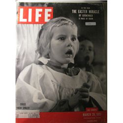 Vintage March 1951 Life Magazine; The Easter Miracle/Child Choir Singer