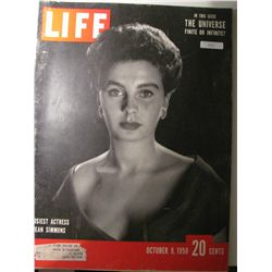 "Vintage October 1950 Life Magazine; Cover"" Jean Simmons"