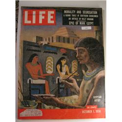 October 1956 Vintage Life Magazine; Egyptian Artist;