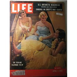 Vintage April 1956 Life Magazine; Churchill on Liberty's First Charter/The Teen-Age Telephone Tie-Up