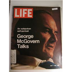 July 1972 Vintage Life Magazine; George McGovern Talks
