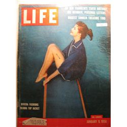 January 1956 Life Magazine; Riviera fashions Pajama Top Jacket