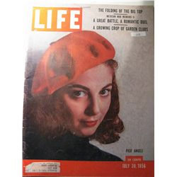 Vintage July 1956 Life Magazine; Cover: Pier Angeli