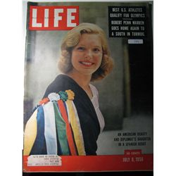 Vintage July 1956 Life Magazine; Cover: An American Beauty and Diplomat's Daughter in a Spanish Debu
