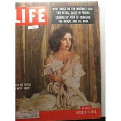 October 1956 Vintage Life Magazine; Liz Taylor in Movie Giant
