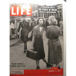 January 1955 Life Magazine; People of Russia
