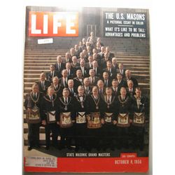 October 1956 Life Magazine; The US Masons