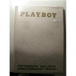 January 1969 Playboy Magazine; Fifttenth Holiday Anniversary Issue